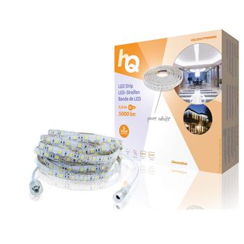 LED pásek pro snadné upevnění, čistá bílá, vnitřní/venkovní, 5 000 lm, 5 m
