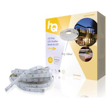 LED pásek pro snadné upevnění, RGB, vnitřní/venkovní, 30 LED/m, 5 m