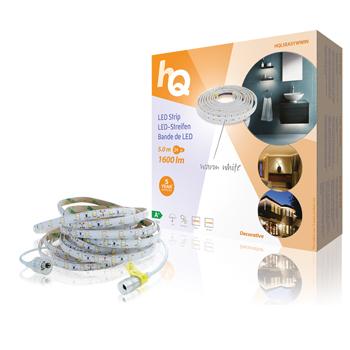 LED pásek pro snadné upevnění, teplá bílá, vnitřní/venkovní, 1 600 lm, 5 m