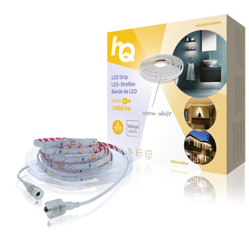 LED pásek pro snadné upevnění, teplá bílá, vnitřní/venkovní, 1 400 lm, 5 m