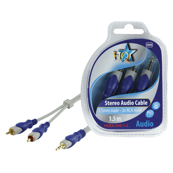 Kabel jack 3.5/m - 2x cinch/m 1.5m - blistr