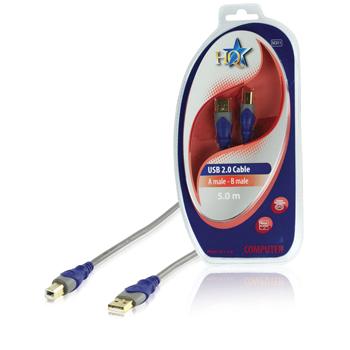 Kabel usb a zástrčka lt/ - gt/ usb b zástrčka 5.0m - blistr