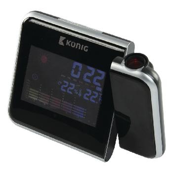 LCD hodiny s projekcí času a předpovědí počasí