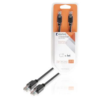 UTP CAT5e síťový kabel, RJ45 zástrčka – zástrčka, 1 m, šedý