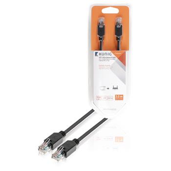 UTP CAT5e síťový kabel, RJ45 zástrčka – zástrčka, 2 m, šedý