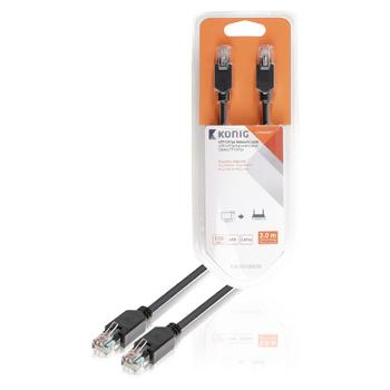 UTP CAT5e síťový kabel, RJ45 zástrčka – zástrčka, 3 m, šedý