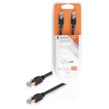 FTP CAT6 síťový kabel, RJ45 zástrčka – zástrčka, 1 m, šedý