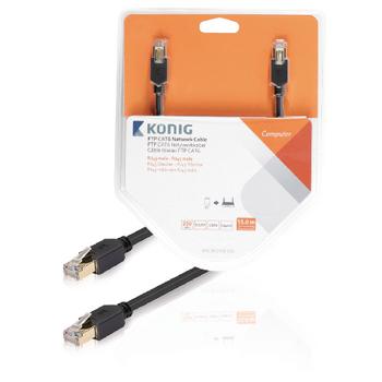 FTP CAT6 síťový kabel, RJ45 zástrčka – zástrčka, 15 m, šedý