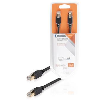 FTP CAT6 síťový kabel, RJ45 zástrčka – zástrčka, 2 m, šedý