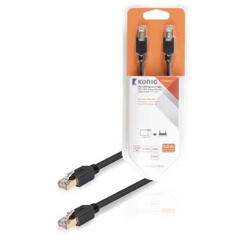 FTP CAT6 síťový kabel, RJ45 zástrčka – zástrčka, 3 m, šedý