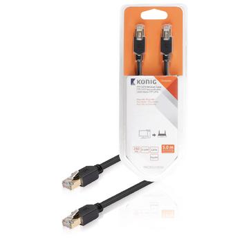 FTP CAT6 síťový kabel, RJ45 zástrčka – zástrčka, 5 m, šedý