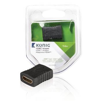 Spojka HDMI s konektory HDMI vstup – HDMI vstup, šedý
