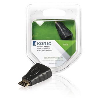 HDMI™ adaptér, HDMI™ Mini konektor – HDMI™ vstup, 1 ks, šedý