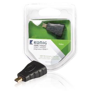 HDMI™ adaptér, HDMI™ Micro konektor – HDMI™ vstup, 1 ks, šedý