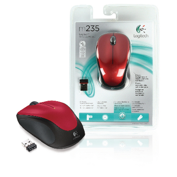 M235 wireless mouse red