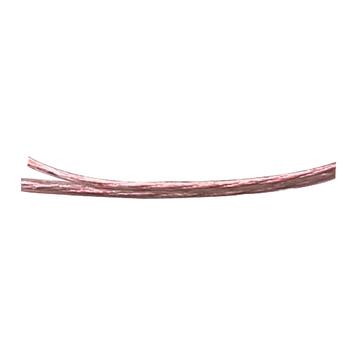 Flexibilní průhledný repro kabel 2 x 2.50 mm