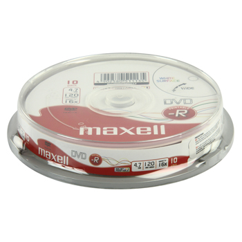 DVD-R 4.7 GB printable 16x spindle 10 pieces
