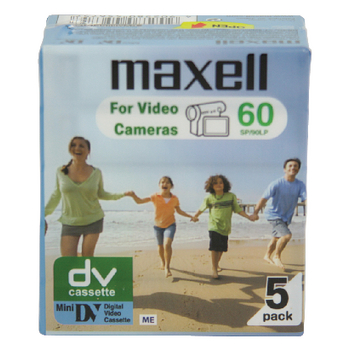 Kazeta minidv - 60min - maxell, 5ks