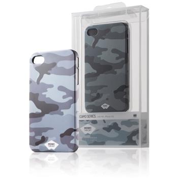 Pogumované pouzdro pro telefon iPhone 4s/4, vojenský design, šedé