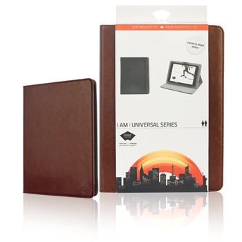 Universal tablet case pu leather for tablet 9-10 quot; brown