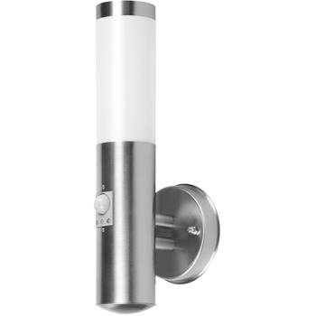 Nástěnné svítidlo z kartáčované nerezové oceli s detektorem pohybu