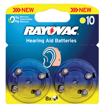 Baterie do naslouchátek HA10 (8 ks)