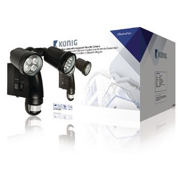 König venkovní lampa s integrovanou kamerou a pohybovým čidlem