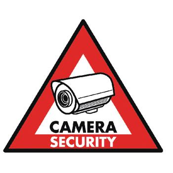 Nálepka bezpečnostní kamera 123 x 148 mm