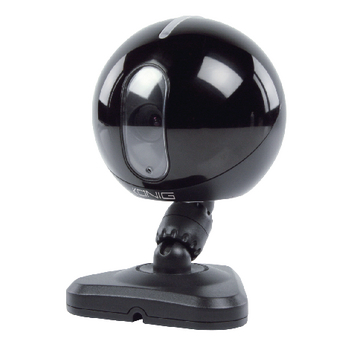 Interiérová IP kamera s nočním viděním, černá