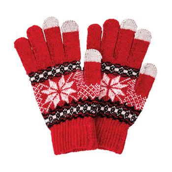 Dotykové rukavice, červené