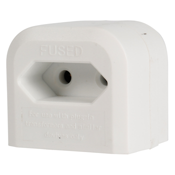 Adaptér pro euro vidlice do UK zásuvky, bílý