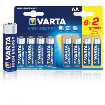 Baterie 1.5v lr6 high energy 6 2ks - varta