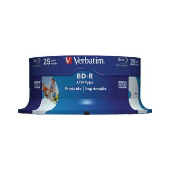 BD-R SL LTH Type 25GB 6x Wide Printable 25 Pack Spindle