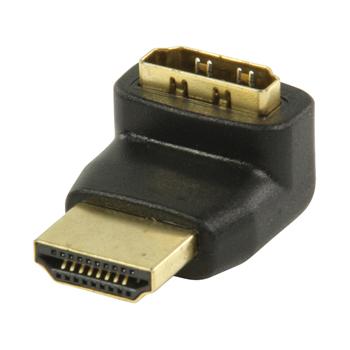 Adaptér HDMI™ s konektory 270° úhlový HDMI™ – HDMI™ vstup, černý