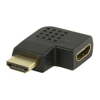 Adaptér HDMI™ s konektory HDMI™ úhlový levý – HDMI™ vstup, černý