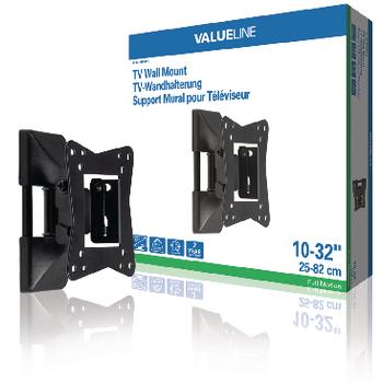 Nástěnný držák televizoru, full motion, 10 až 32 quot; / 25 až 82 cm, 30 kg
