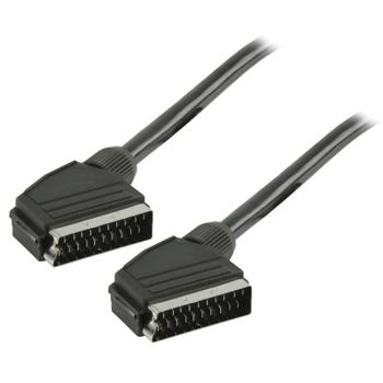 Kabel SCART, zástrčka SCART – zástrčka SCART, 5,00 m, černý