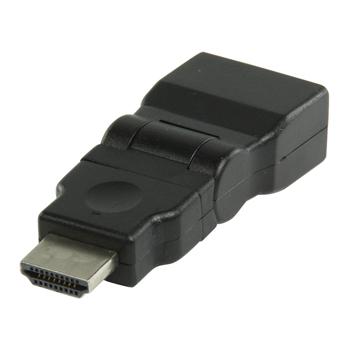 HDMI adaptér, HDMI otočný - HDMI vstup, černý