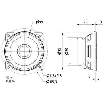 2-cestný koaxiální reproduktor 10 cm (4 quot;)4 Ohm