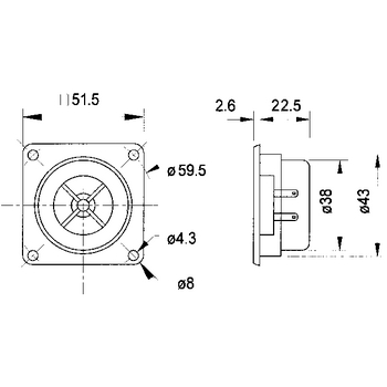 Hifi výškový reproduktor 10 mm (4 quot;) 8 Ohm