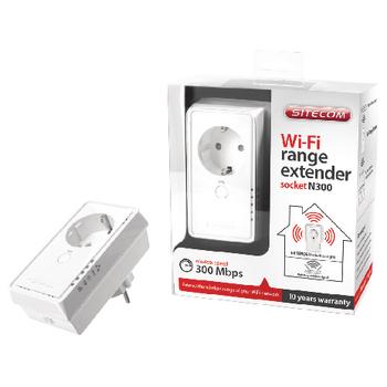 Wi-Fi Range Extender Socket N300