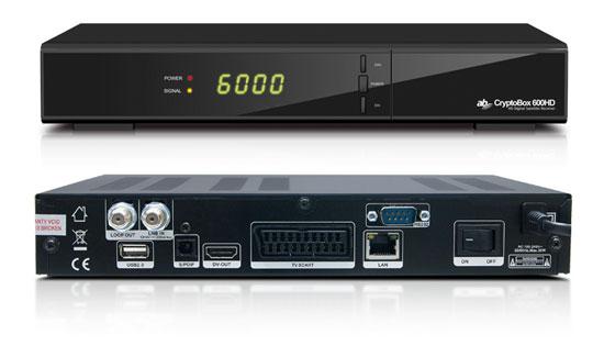 AB DVB-S2 přijímač Cryptobox 600HD