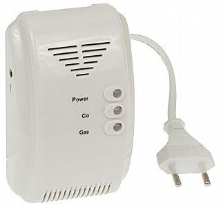 Detektor CO a plynu 2v1 bílý