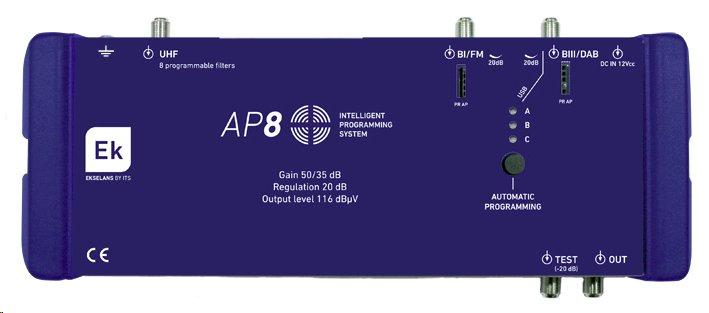 ITS programovatelný zesilovač AP 8
