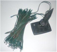 LED řetěz se solárním napájením, 120x LED, 12m, mix barev, blikající mód