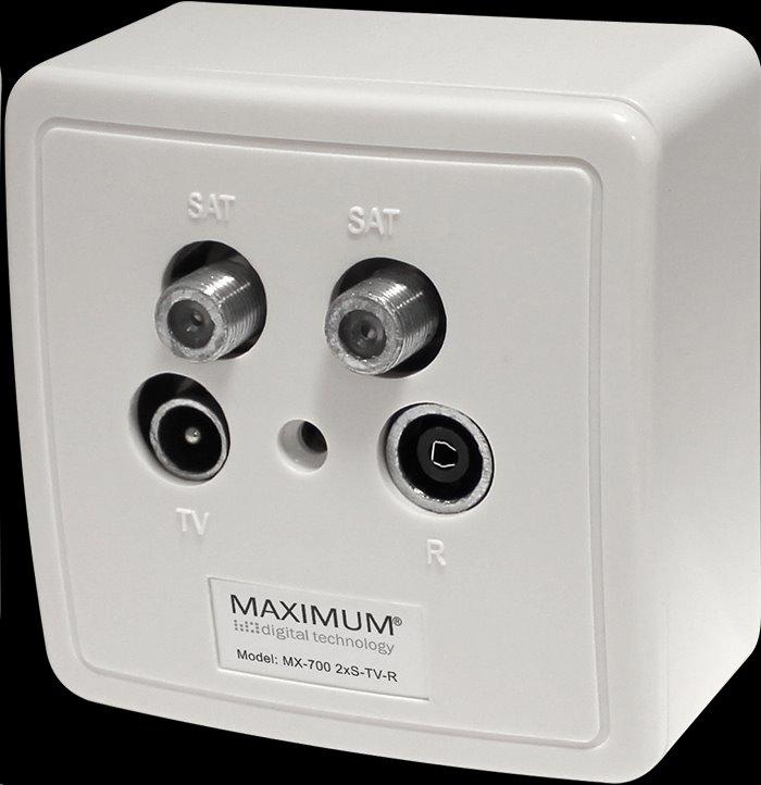 MAXIMUM zásuvka MX 700 SAT/TV/Radio