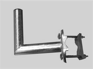 OEM držák antény balkónový 20 cm - žárový zinek