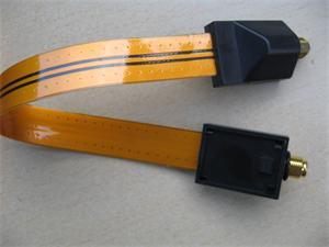OEM koaxiální průchodka oknem 30 cm - měděná, pozlacené konektory