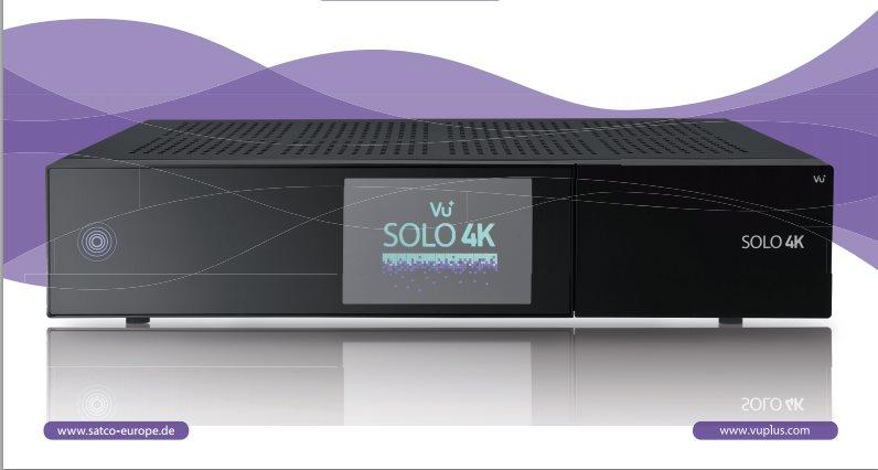 VU+ Solo 4K - Satelitní UHDTV přijímač