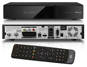 VU+ Solo2 Twin tuner, satelitní přijímač Enigma, bílý